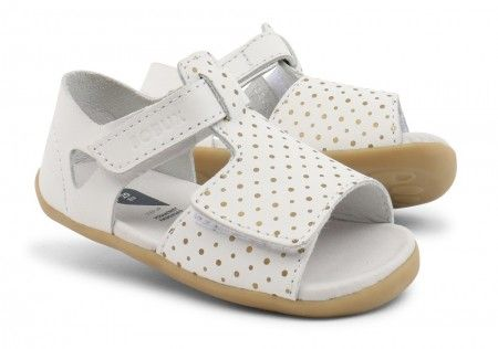 Bobux Step Up Mirror White Gold Sandals - Bobux - Little Wanderers