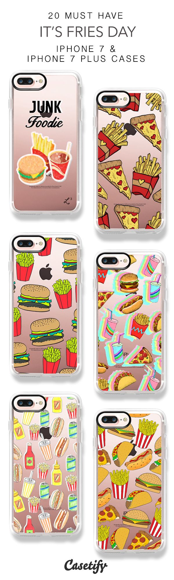 20 Must Have It's Fries Day iPhone 7 Cases and iPhone 7 Plus Cases. More Food iPhone case here > https://www.casetify.com/collections/top_100_designs#/?vc=N3HwoKH0ZA