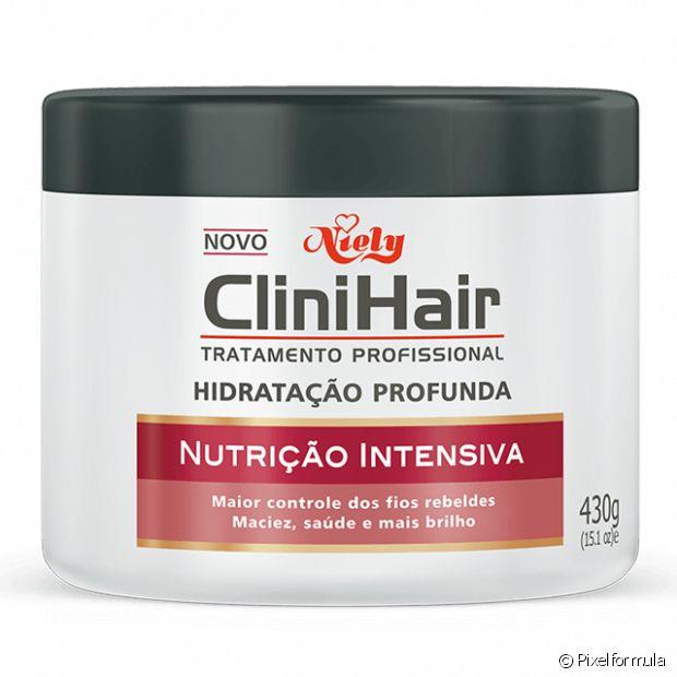 Creme de Hidratação Profunda CliniHair Nutrição Intensiva 430g - Nutrição Intensiva. Hidratação.