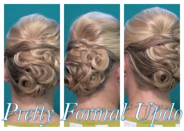 Wedding updo :) so pretty!