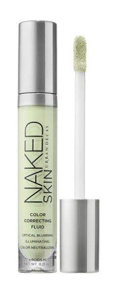 Use a green concealer to neutralize redness before applying foundation.