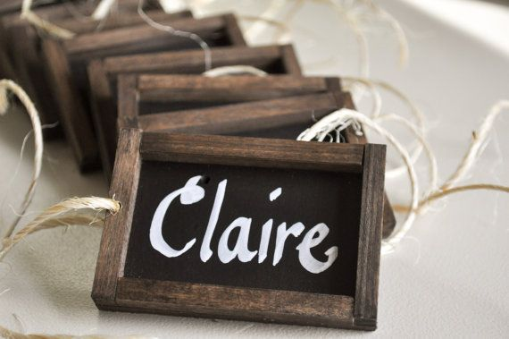 Chalkboard Place Card Napkin Holders for Wedding by gracegumption, $42.00