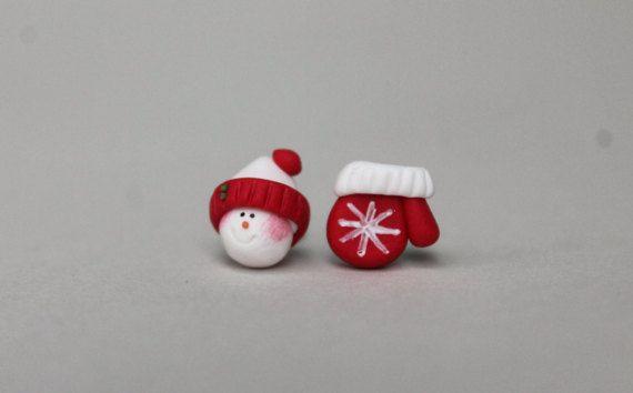 Navidad pendientes muñecos de nieve pendientes joyas