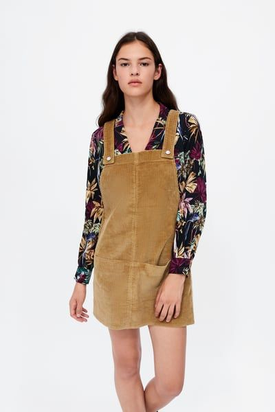 78477e153fc Image 2 of CORDUROY OVERALL DRESS from Zara