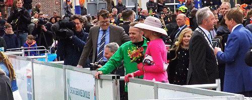 "koningwillemalexander:  """"Koningsdag 2016: Cute moment between Princess Catharina-Amalia and Prince Constantijn  "" """