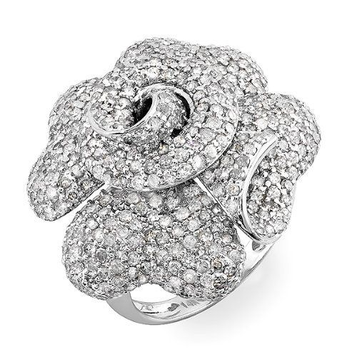 4.10 Carat (ctw) 14k White Gold Round Diamond Ladies Cocktail Blossom Flower Rose Right Hand Statement Ring DazzlingRock Collection. $2459.00. Diamond Color / Clarity : H-I / I1-I2. This Ring is best for engagement ring .. Crafted in 14K white-gold. Weighs approximately 13.85 grams. Diamond Weight : 4.10 ct tw.. Save 71%!