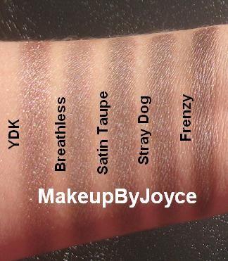 ! **❤ MakeupByJoyce ❤** !: Swatches: Urban Decay YDK vs Stray Dog vs Mac Satin Taupe
