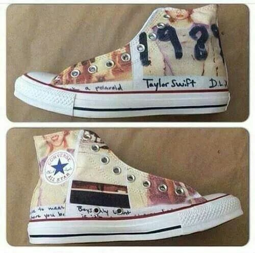Taylor Swift 1989 Converse.. I want these SO BAD! Two of my fav things!!!