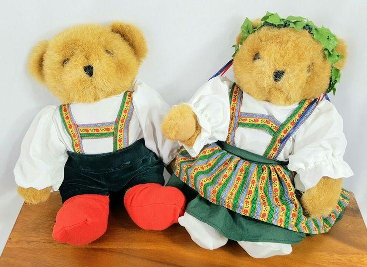 """Rare Tender Heart Treasures Pair of 12"""" Bears in #German Traditional Clothing  #TenderHeartTreasures #Oktoberfest"""