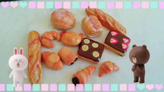 Miniature Food Thumbtacks Pushpins Push Pins Cute by emicocosweet