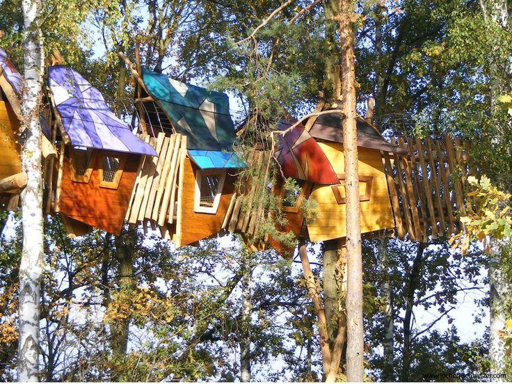 Im Freizeitpark auf der Kulturinsel Einsiedel werden #Baumhaus #träume wahr! #übernachtung #besonders #kurztrip #spaß #outdoor #schlafen