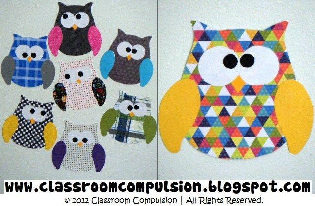 Classroom Compulsion: Owls, Owls Everywhere! owl template