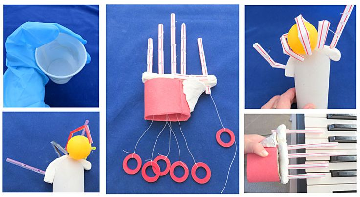 Design your very own robot hand complete with bendable fingers using simple craft materials and a little bit of creative engineering.