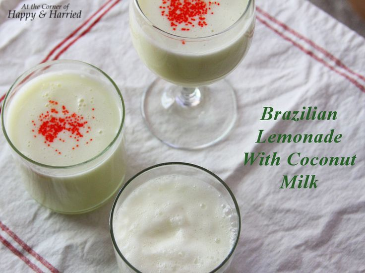 Brazilian Lemonade with Coconut Milk. Nothing says summer better than this drink! #happyandharried #lemonade #coconut #milk #summer