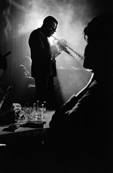 Miles Davis by Dennis Stock, 1958.                                                                                                                                                      More