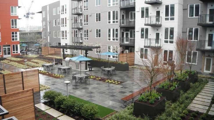 Multi Family Residential Courtyards Google Search