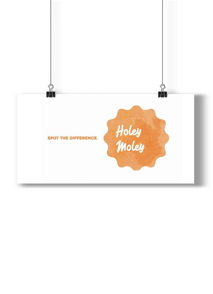 Holey Moley: Logo for a Melanoma Awareness Campign