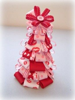 17 best images about valentines ribbon trees topiary on for B day decoration ideas