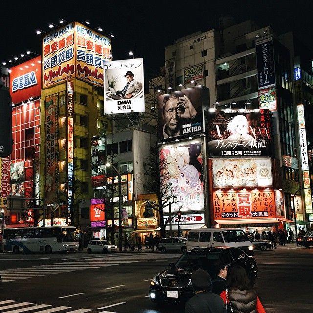 """Night reminds me about Japan again. #Akihabara #Tokyo"""