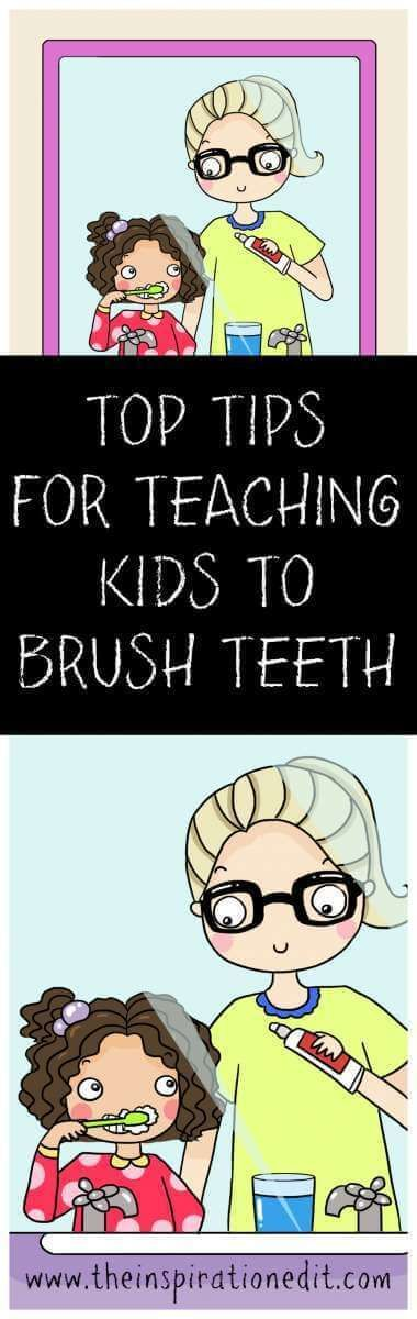 how to brush your teeth instructions for kids