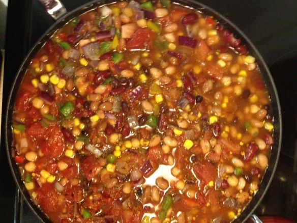 Fiesta Bean Soup recipe | Starring the Middle Sister