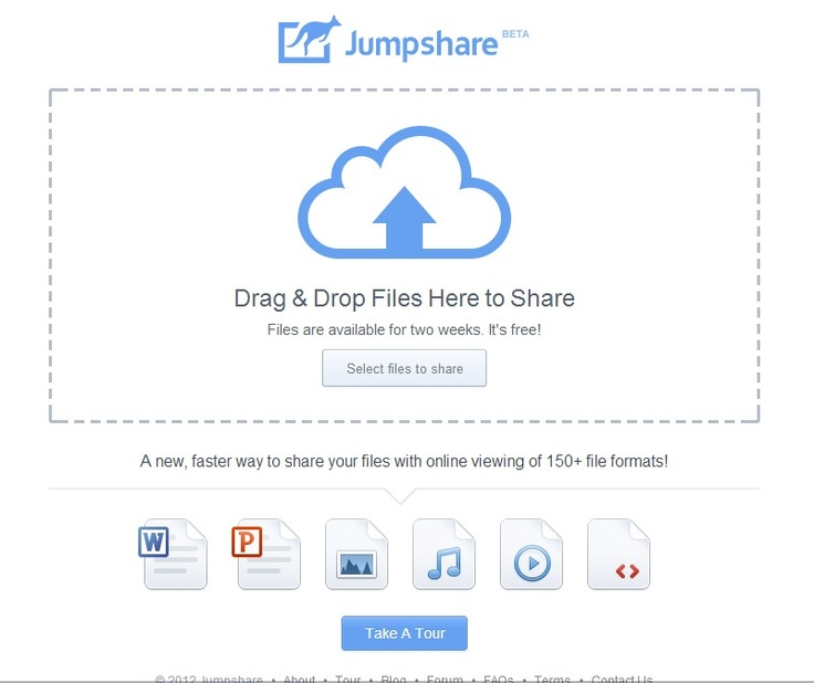 Jumpshare : A new, faster way to share your files with online viewing of 150+ file formats!