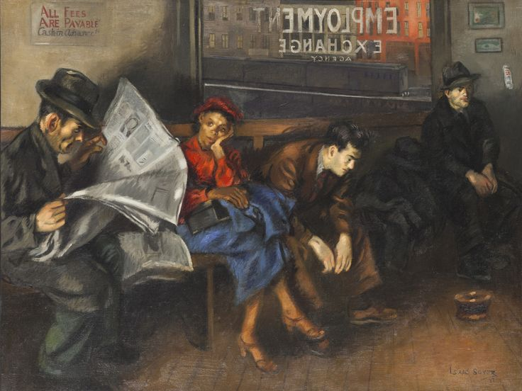 Isaac Soyer (19021981), Employment Agency, 1937