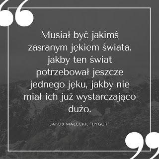 """KSIĄŻKI LUBIĘ!: trochę nie z tego świata. jakub Małecki, """"Dygot"""""""