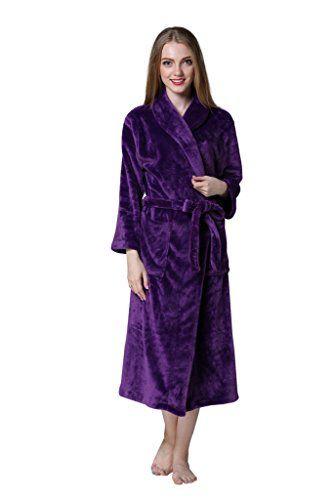Aibrou pyjama femme polaire Robe peignoir pas cher personnalisé robe chambre longue Hiver: La matière est en polaire de très bonne qualité…