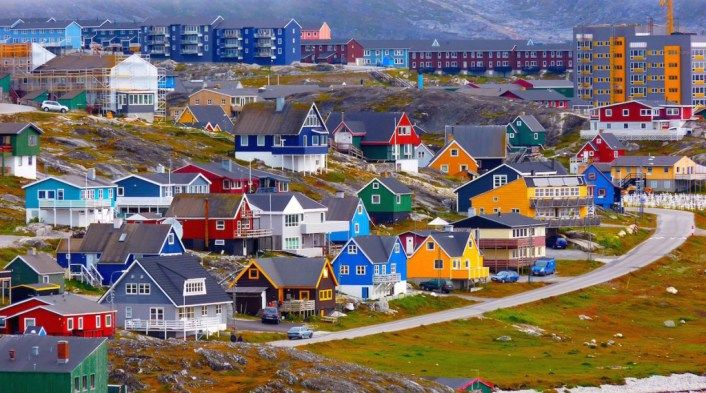 Nuuk, Greenland – The capital of Greenland is Nuuk which is also referred to by its Danish name Godthab. The subarctic climate in Nuuk results in temperatures of -30 C in winter and about 10 C in summer. Rainfall and snow are common at any time of the year. The city of Nuuk was established in 1728 and is often termed as the oldest city in Greenland.