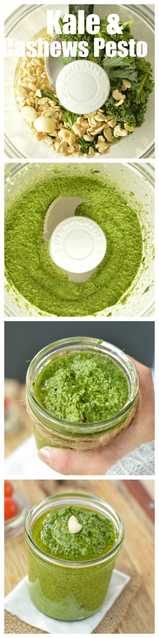 vegan cashew pesto creamy pesto There's no basil in this recipe. A good way to use kale, and cashew is always on hand.