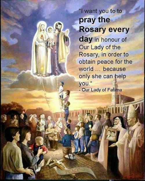Our Lady of Fatima takes our humble little prayers and forms then into supernatural glorious prayers to present to her Son, The Lord of Heaven and earth. That is why she came - to bring us close to Him.