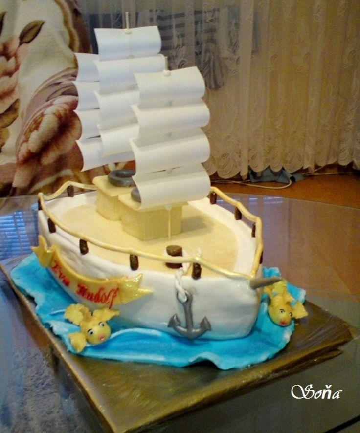 Best ShipBoat Cakes Images On Pinterest Cake Ideas Nautical - Boat birthday cake ideas