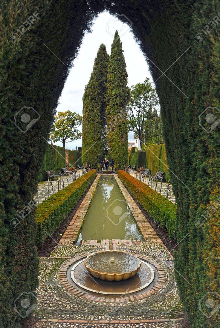 Giardini Del Palazzo Di Generalife, Alhambra Di Granada, Patio De Los Leones, Andalusia, Spagna Foto Royalty Free, Immagini, Immagini E Archivi Fotografici. Image 43485112.