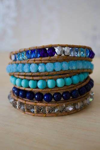Santorini fick layers Wrap bracelets handmade by www.lacempaka.tictail.com