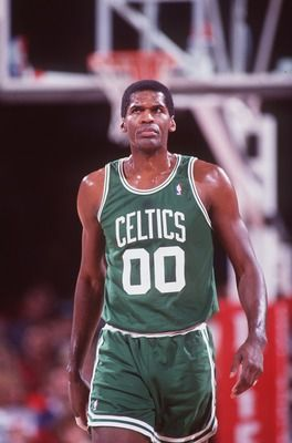 Center Robert Parish of the Boston Celtics