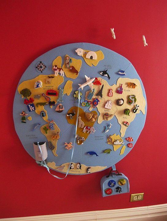 Mapa de fieltro