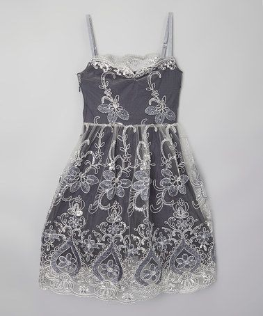 Look at this #zulilyfind! Silver Twinkle Twinkle Dress - Girls by fiveloaves twofish #zulilyfinds