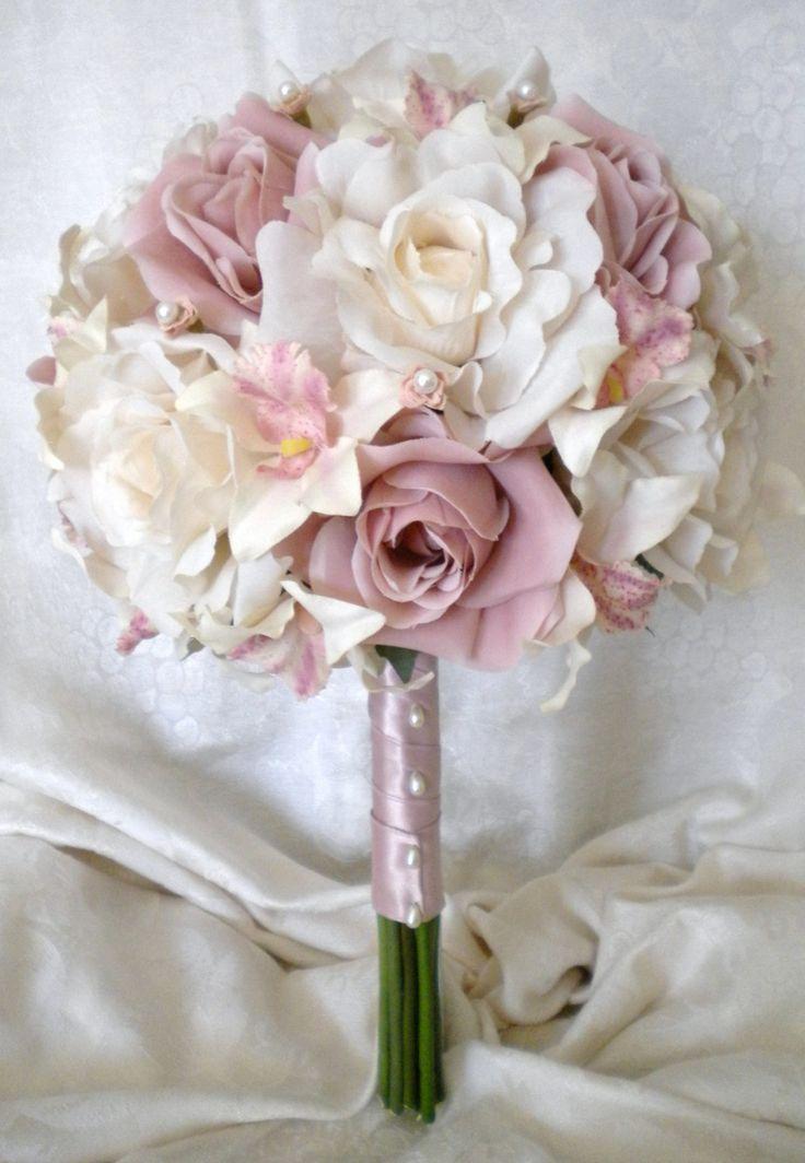 CUSTOM LISTING mauve wedding flowers. $265.00, via Etsy.