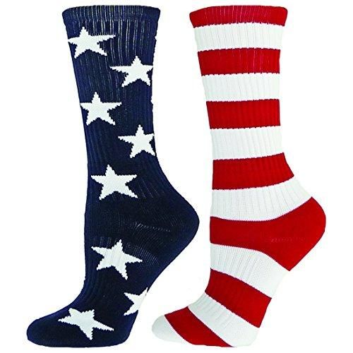 Red Lion Freedom Mismatched Crew Socks American Flag ( Navy/White/Red - Large )  Crew Socks. To be worn as a mismatch, one of each style. Features : #Crew #Socks *86% Nylon, 12 % Polyester, 2% Spandex Color : Navy / White / Red Size : Large