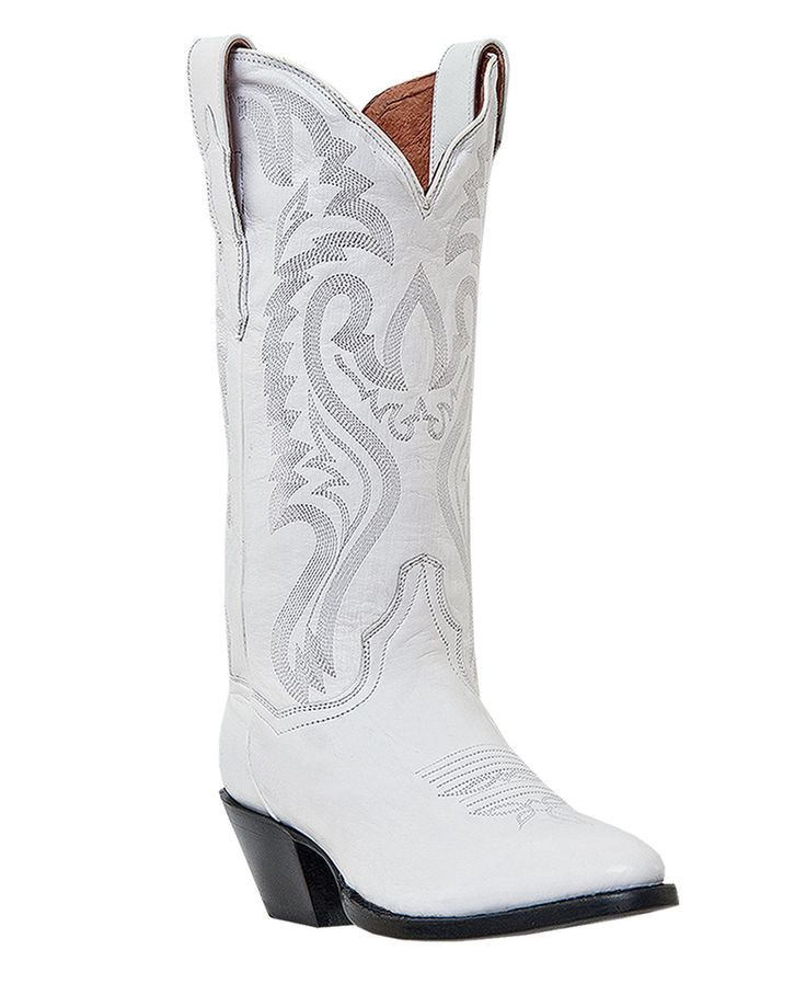 Dan Post Women's Rodeo Queen Boots - White!! Heck yes totally getting these for big day!!