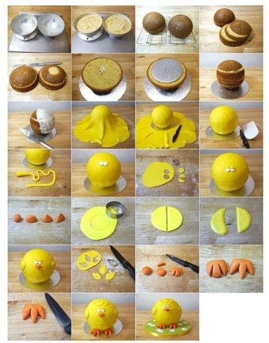 Chick Cake Tutorial by CakeJournal