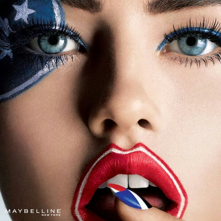 MAKEUP-- very patriotic!