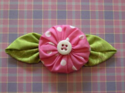 yo-yo posey could use for flower girl headbands in wedding colors