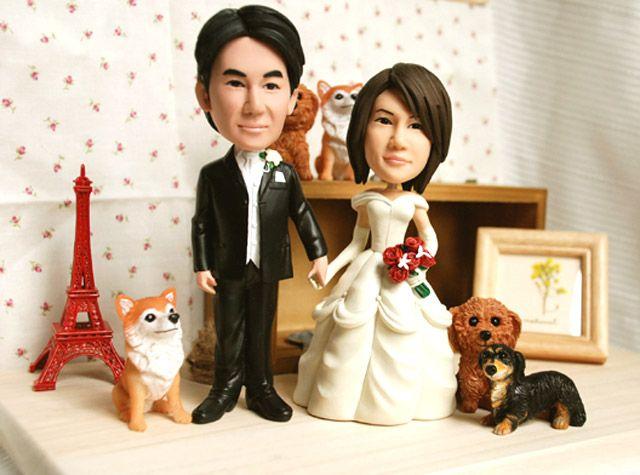 オーダーメイド ハンドメイドの結婚式用ウェルカムドール。可愛いペットも作成できます。チワワ、トイプードル、ミニチュアダックスフント オリジナルカラーリング