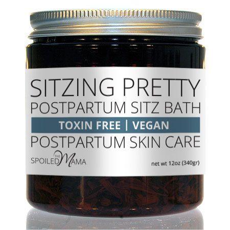 Postpartum Sitz Bath  Sitzing Pretty by thespoiledmama on Etsy