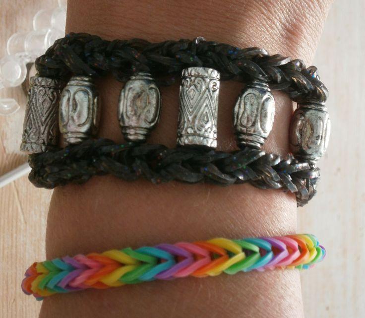 Nederlands Nederlandse uitleg handleiding patroon rainbow crazy fun loom looming loomen band-it elastiekjes haken met kralen beads basteln Mar10=Creatief