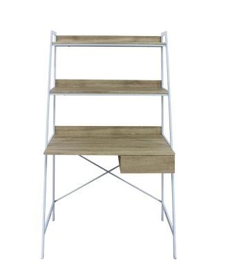 Bureau avec étagères SHELVI Chêne/blanc