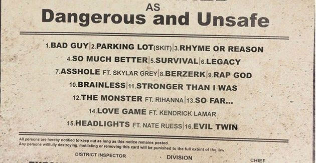 Eminem – The Marshall Mathers LP 2 – Official Tracklist