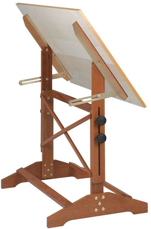 Pavillion Art and Drawing Table Unfinished Wood Top - 36''W, AP436 by ALVIN | BizChair.com